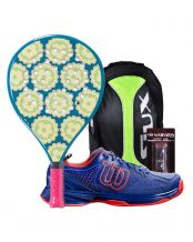 PACK JUNIOR AGATHA CANDY Y ZAPATILLAS WILSON KAOS COMP JUNIOR