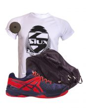 PACK ASICS GEL BELA 5 DIVA SG Y PALETERO ASICS MEDIUM PERFORMANCE