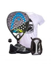 PACK HEAD GRAPHENE TOUCH ALPHA ELITE Y ZAPATILLAS SOFTEE WINNER