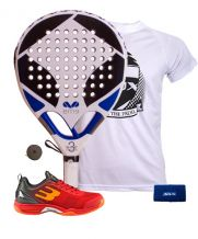 PACK EME TITANIUM WHITE 3 Y ZAPATILLAS BULLPADEL BEWER