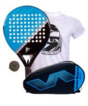 PACK ADIDAS FAST COURT AZUL Y PALETERO VARLION HEXAGON