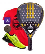 PACK ADIDAS ZUKUR ATTK Y ZAPATILLAS WILSON KAOS SAFETY AMARILLO