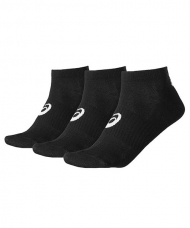 CALCETINES ASICS 3PPK PED SOCK NEGROS 128066