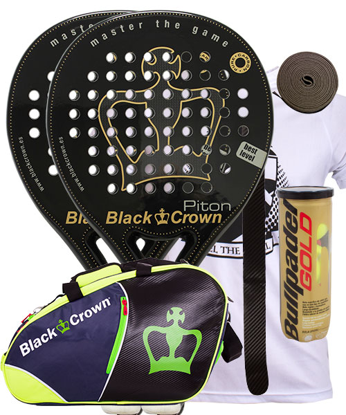 PACK 2 PALAS BLACK CROWN PITON Y PALETERO BLACK CROWN SUN