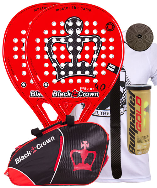 PACK 2 PALAS BLACK CROWN PITON 4.0 Y PALETERO BLACK CROWN SUN
