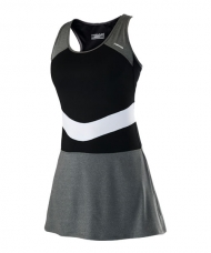 VESTIDO HEAD ALICE DRESS NEGRO GRIS