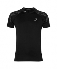 CAMISETA ASICS STRIPE SS TOP NEGRA