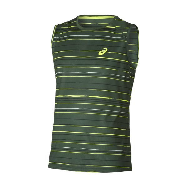 CAMISETA ASICS ATHLETE SLEVELESS TOP VERDE