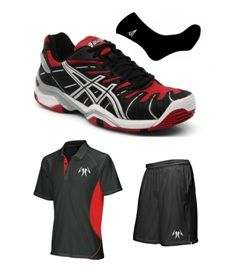 ASICS GEL RESOLUTION 4 SG  NEGRO/ROJO 2012