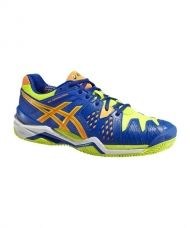ASICS GEL RESOLUTION 6 CLAY AZUL AMARILLO