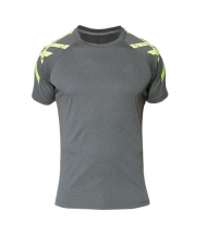 CAMISETA ASICS STRIPE SS TOP GRIS