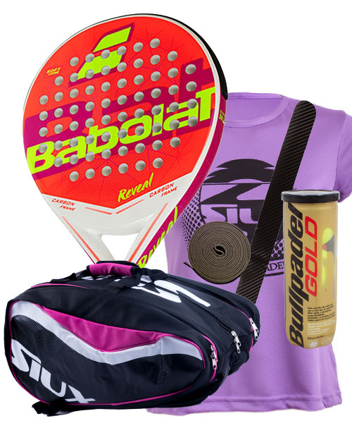 PACK BABOLAT REVEAL Y PALETERO SIUX SX SPARTAN