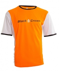 CAMISETA BLACK CROWN KEEP BLANCO NARANJA