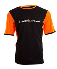 CAMISETA BLACK CROWN KEEP NEGRO NARANJA