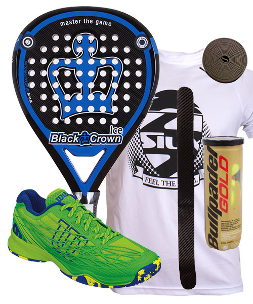 PACK BLACK CROWN ICE Y ZAPATILLAS WILSON KAOS CLAY