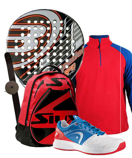 PACK BULLPADEL BP10 PRO Y ZAPATILLAS HEAD