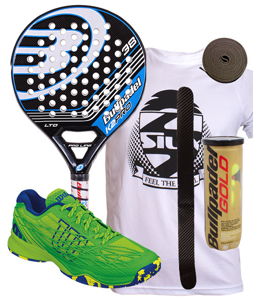 PACK BULLPADEL K2 PRO LTD Y ZAPATILLAS WILSON KAOS CLAY COURT