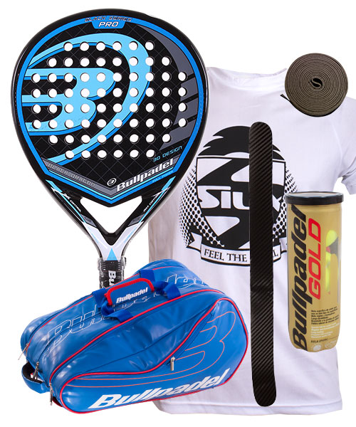 PACK BULLPADEL BLACK DRAGON 2015 Y PALETERO BULLPADEL AVANTLINE AZUL