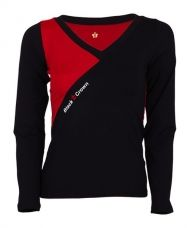 CAMISETA BLACK CROWN BATH NEGRO ROJO