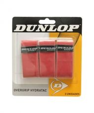 OVERGRIPS DUNLOP HYDRATAC 3 UNIDADES ROJO