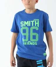 CAMISETA JOHN SMITH FAXCOL JUNIOR AZUL REAL