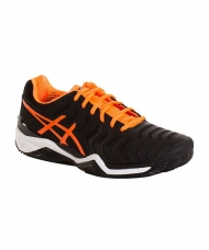 ASICS GEL RESOLUTION 7 CLAY NEGRO NARANJA E702Y 9030