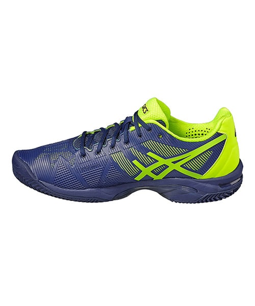ASICS GEL SOLUTION SPEED 3 CLAY MARINO AMARILLO FLUOR E601N 4907
