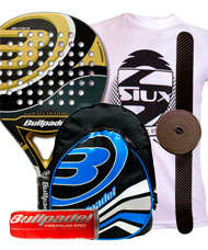 PACK BULLPADEL GOLD EDITION Y MOCHILA
