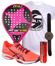 PACK STAR VIE R9.1 DRS CARBON SOFT ROSA Y ZAP. ASICS GEL SOLUTION