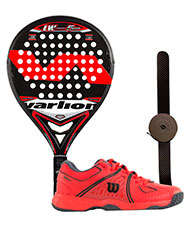 PACK VARLION LW CARBON 5 GP ROJA Y ZAPATILLAS WILSON