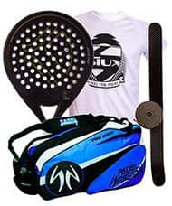 PACK KAITT CALIBRE 2016 Y PALETERO PADEL SESSION PRO SERIES AZUL