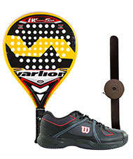 PACK VARLION LW CARBON 5 GP AMARILLA Y ZAPATILLAS WILSON