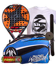 PACK STAR VIE R 8.1 CARBON SOFT 2015 Y PALETERO PADEL SESSION
