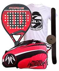PACK WILSON CARBON FORCE 2016 Y PALETERO PADEL SESION PRO SERIES