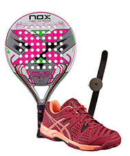 PACK NOX ML10 WOMAN CUP 3.0 2016 Y ASICS GEL PADEL PRO 3