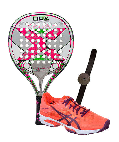 PACK NOX STIGER JR 2.1 GIRLS Y ASICS GEL SOLUTION SPEED 3