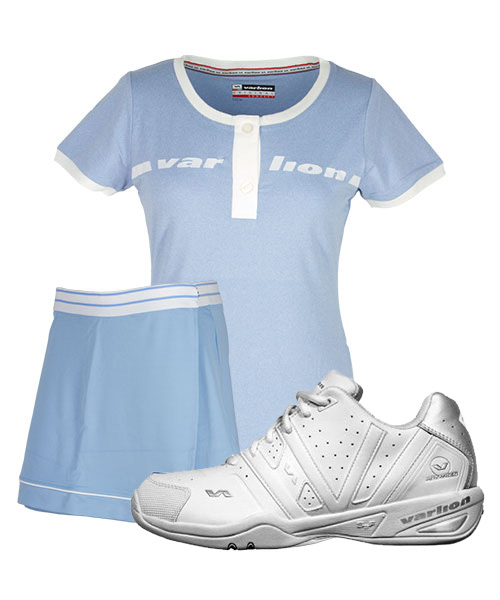 PACK ZAPATILLAS VARLION CLASS FALDA ANIVERSARY Y CAMISETA ORIGINAL CELESTE