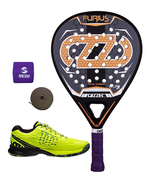 PACK CAZZEC FURIUS Y ZAPATILLAS WILSON KAOS SAFETY AMARILLO