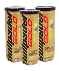 PACK 3 BOTES DE 3 PELOTAS BULLPADEL GOLD
