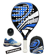 PACK BULLPADEL GRIZZLY, MOCHILA, ZAPATILLAS