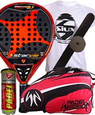 PACK STAR VIE BRAVA 9.1 CARBON SOFT 2015 Y PALETERO PADEL SESSION