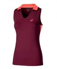 POLO ASICS PADEL SLEEVELESS MORADO