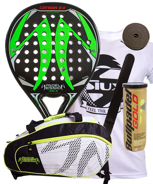 PACK PADEL SESSION CAYMAN 2.0 Y PALETERO MATRIX 3