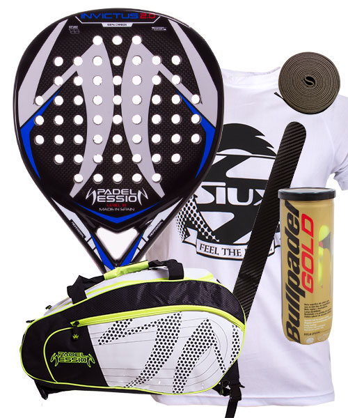 PACK PADEL SESSION INVICTUS 2.0 Y PALETERO MATRIX 4