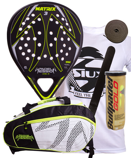 PACK PADEL SESSION PALA Y PALETERO MATRIX 4