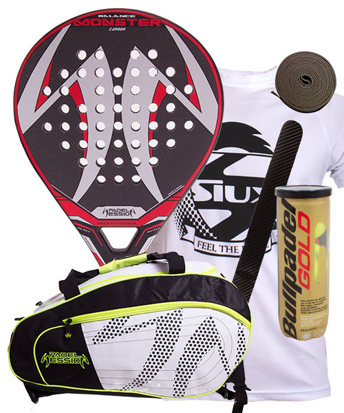 PACK PADEL SESSION MONSTER Y PALETERO MATRIX 4
