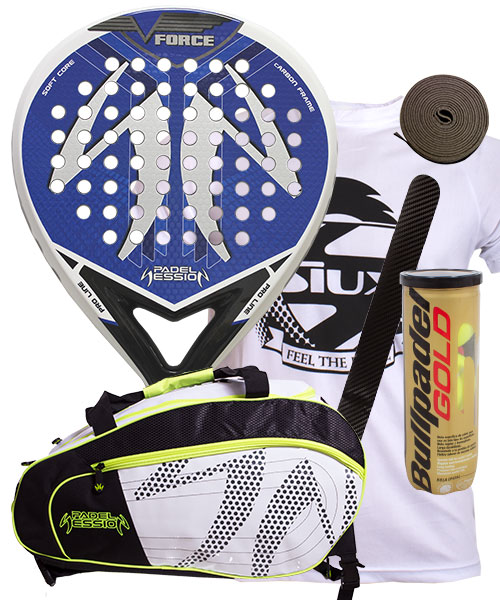 PACK PADEL SESSION V FORCE Y PALETERO MATRIX 3