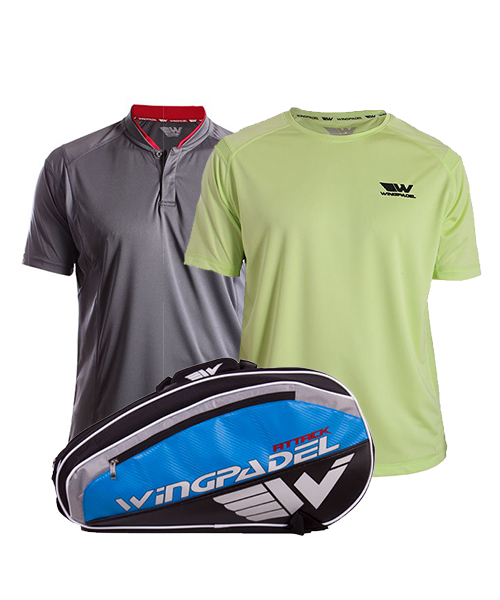 PACK WINGPADEL PALETERO ATTACK POLO W-IVO Y CAMISETA W-OWEN
