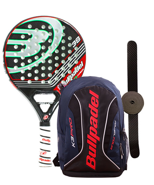 PACK BULLPADEL K2 PRO CARBON Y MOCHILA BULLPADEL BPM 14001 003