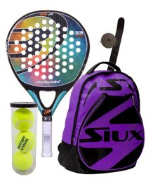 PACK BULLPADEL IRIS JUNIOR 2016 Y MOCHILA SIUX MORADA